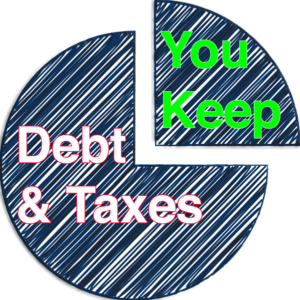 debt and taxes take three quarters of your lifetime income